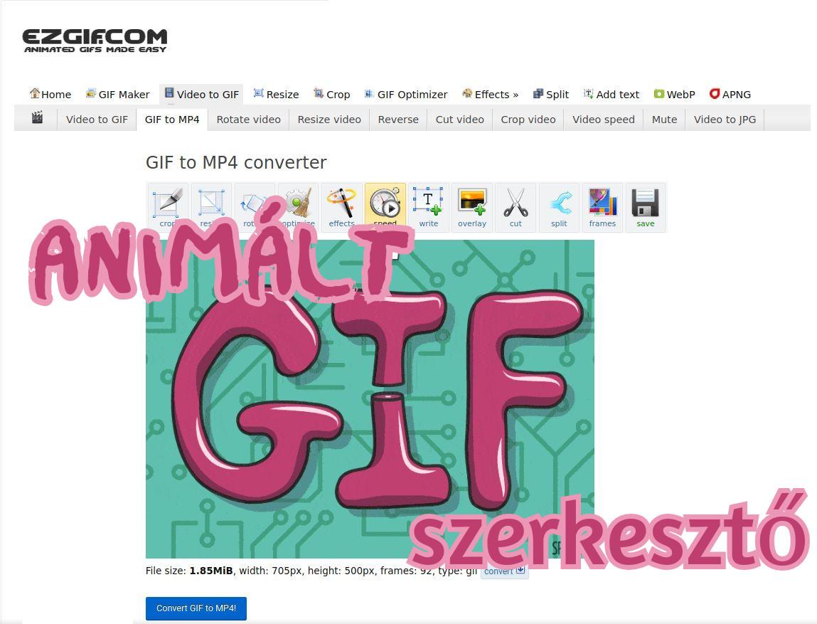 Animált gif képszerkesztő online ingyenes internetes képszerkesztők listája